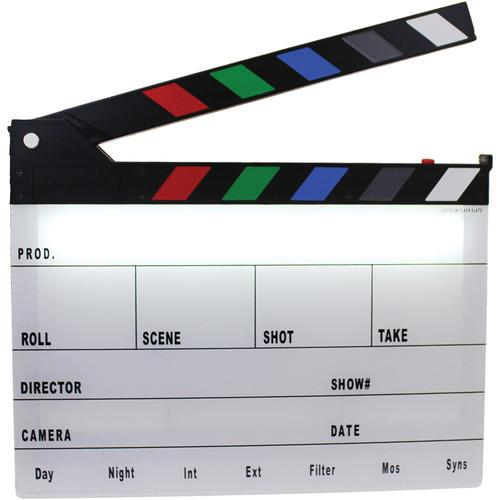 Cavision Next-Generation Color Clapper Slate with LED Light and
