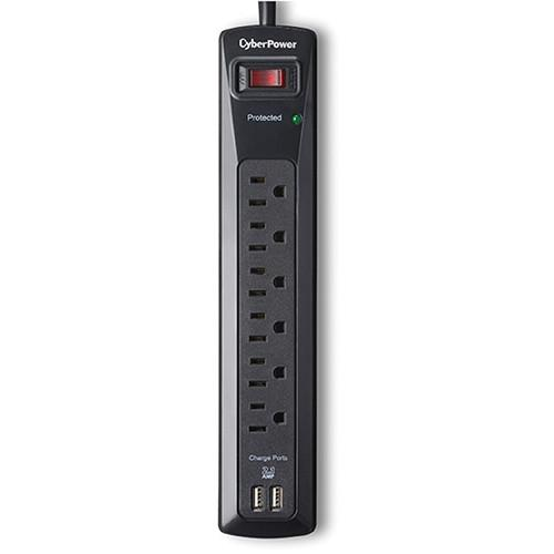CyberPower Pro Series 6-Outlet and Dual USB 2.1A Surge CSP604U