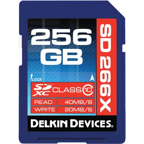 Delkin Devices 256GB 266X SDXC Memory Card DDSD266256GB-A