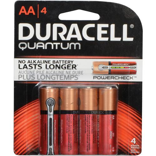 Duracell Quantum AA 1.5V Alkaline Battery (4-Pack) 6949820