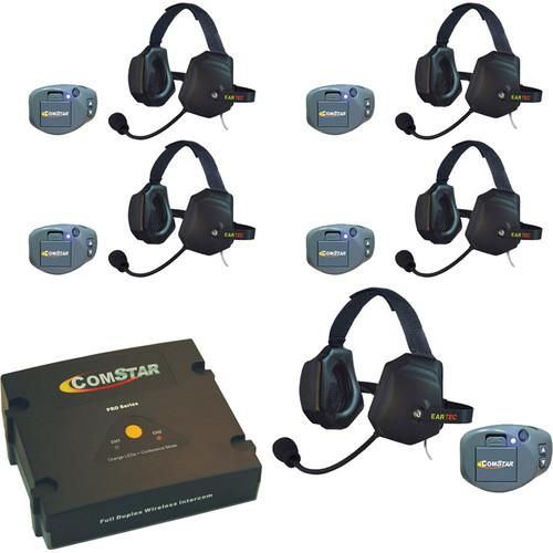 Eartec ComStar Com-Center Intercom Kit with 5 Beltpacks CPKXTR-5