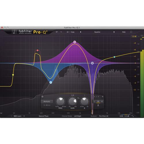 FabFilter Pro-Q 2 - Linear-Phase Mid/Side EQ Plug-In 11-30196