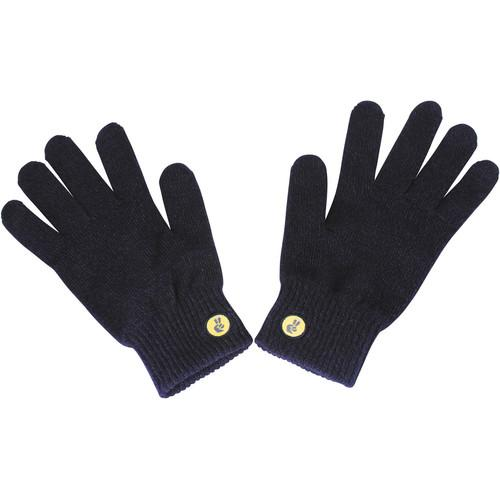 Glove.ly SOLID Winter Touchscreen Gloves (Navy, Small)