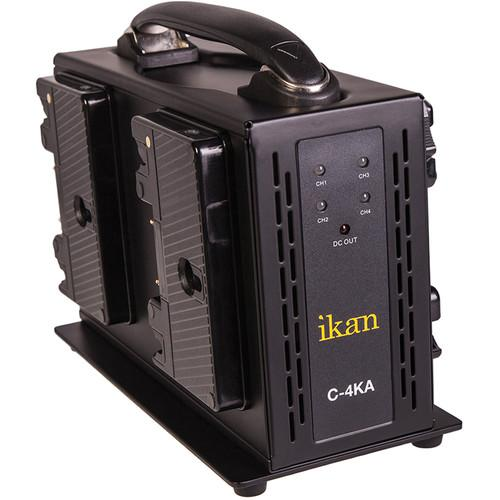 ikan Quad Pro Battery Charger for Anton Bauer Type C-4KA