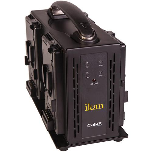 ikan Quad Pro Battery Charger for V-Mount Type Batteries C-4KS