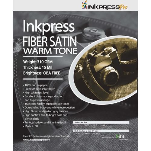Inkpress Media Fiber Satin Warm Tone Paper FSW131925