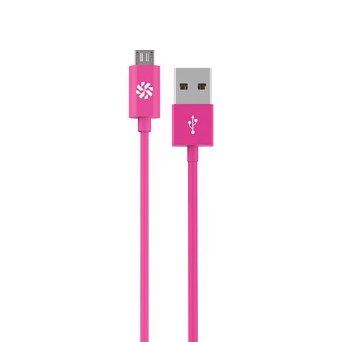 Kanex micro USB Charge and Sync Cable (Pink, 4') KMUSB4FPK