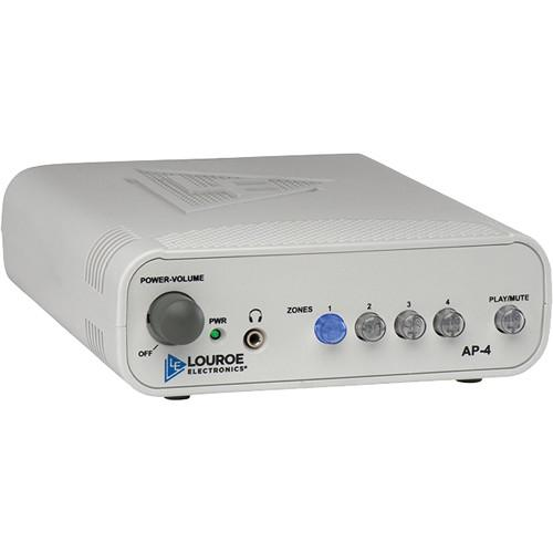 Louroe 4-Zone Manual Audio Monitoring Base Station LE-434