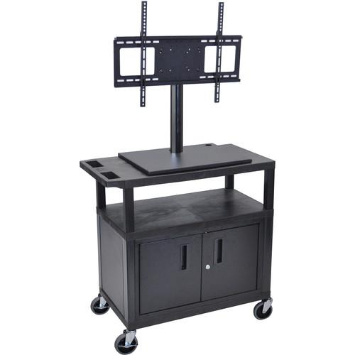 Luxor ET34CE-B Mobile Cart with Universal LCD TV Mount, ET34CE-B