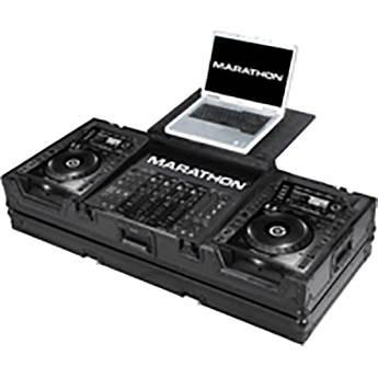 Marathon Black Series Coffin with Laptop Shelf MA-CDJ2K19WLTBLK
