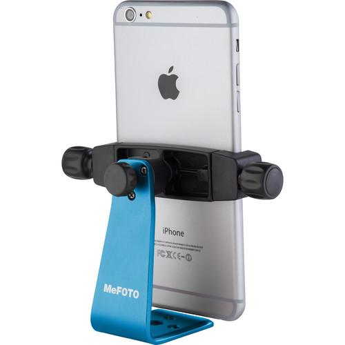 MeFOTO SideKick360 Plus Smartphone Tripod Adapter (Blue) MPH200B