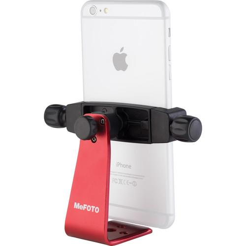 MeFOTO SideKick360 Plus Smartphone Tripod Adapter (Red) MPH200R