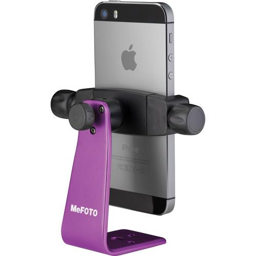 MeFOTO SideKick360 Smartphone Tripod Adapter (Purple) MPH100P
