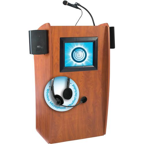 Oklahoma Sound 612-S Vision Floor Lectern with LCD 612-S/LWM-7