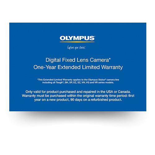 Olympus Digital Fixed Lens Camera 1-Year Extended Limited 202607