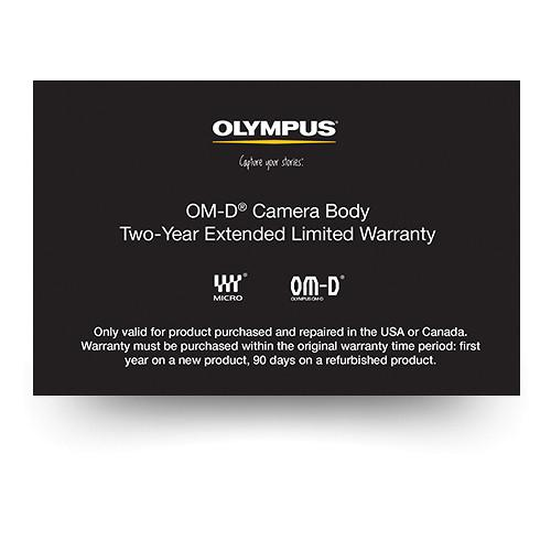 Olympus OM-D Camera Body 2-Year Extended Limited Warranty 260607