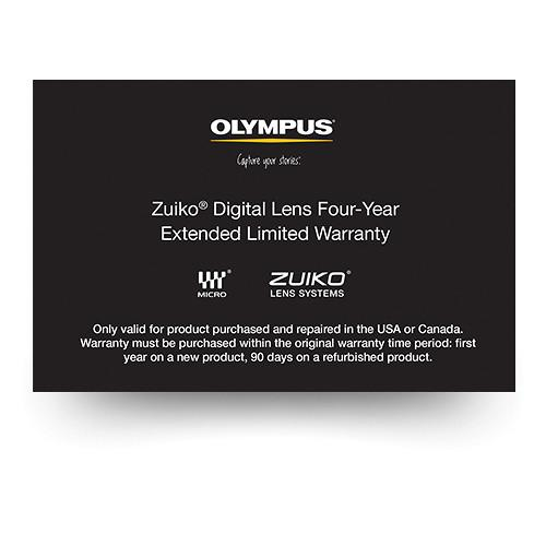 Olympus Zuiko Digital Lens 4-Year Extended Limited 260609
