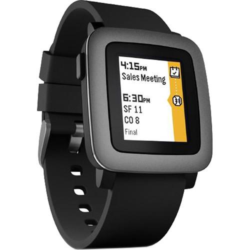 Pebble Pebble Time Smartwatch (Black with Black Bezel) 501-00020