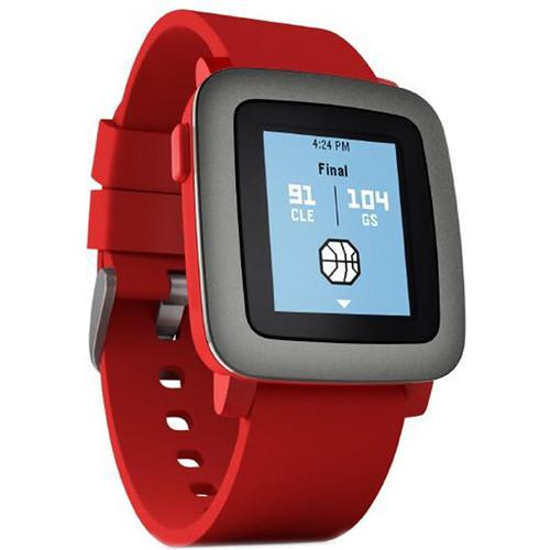 Pebble Pebble Time Smartwatch (Red with Black Bezel) 501-00022