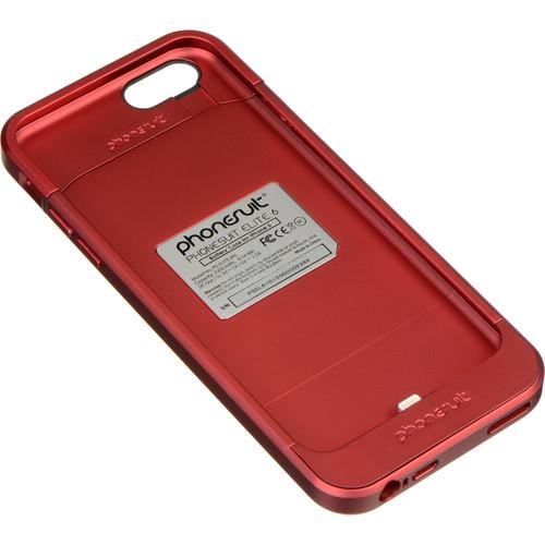 PhoneSuit Elite 6 Battery Case for iPhone 6/6s PS-ELITE-IP6-RED