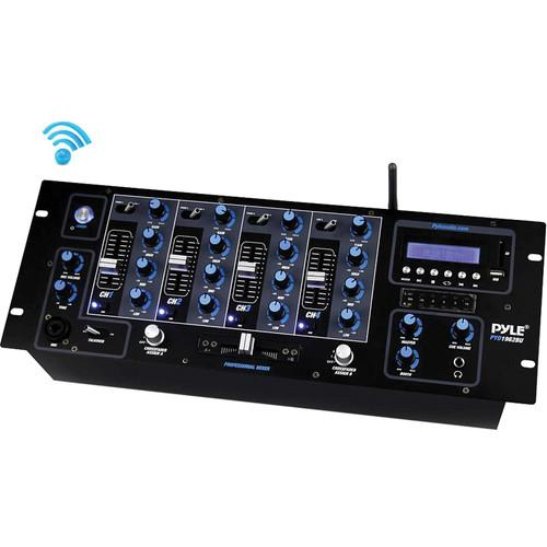 Pyle Pro PYD1962BU 4-Channel Bluetooth DJ Mixer PYD1962BU