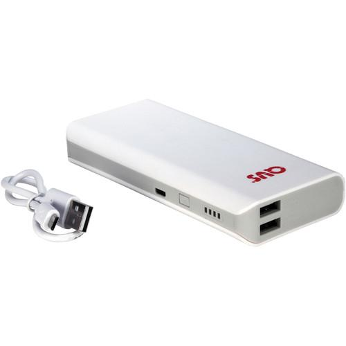 QVS 6000mAh Dual USB Battery Power Bank (White) BP-6000WH