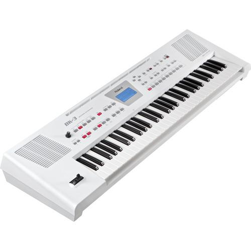 Roland  BK-3 Backing Keyboard (White) BK-3-WH