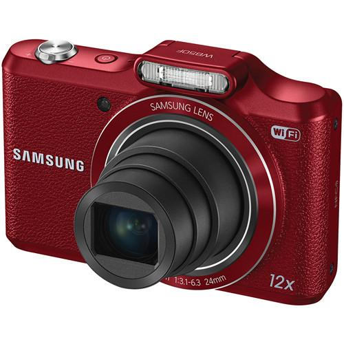 Samsung WB50F Smart Digital Camera Deluxe Kit (Red)