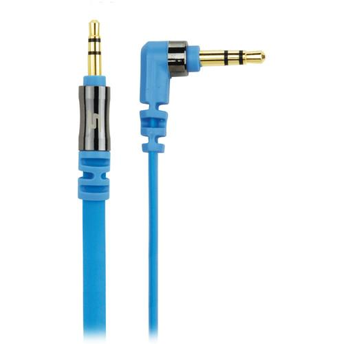 Scosche flatOUT - Flat Audio Cable (Blue, 3') AUX3FBL