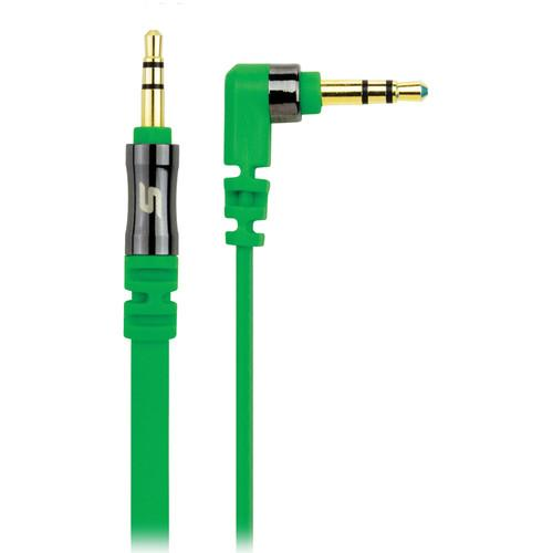 Scosche flatOUT - Flat Audio Cable (Green, 3') AUX3FG