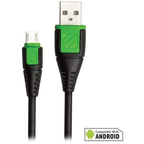 Scosche syncABLE micro USB Cable (3', Green) USBM3G