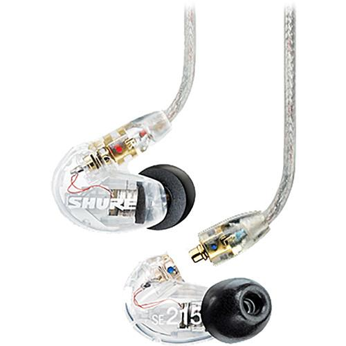 Shure SE215 Sound-Isolating In-Ear Stereo Earphones and Music