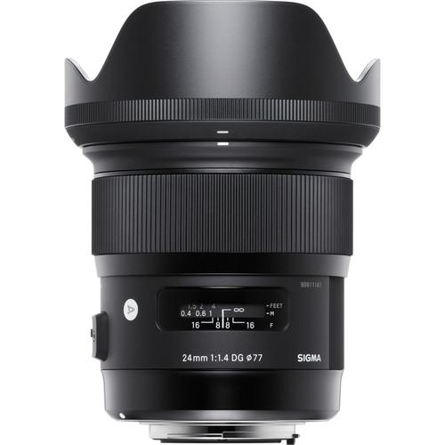 Sigma 24mm f/1.4 DG HSM Art Lens for Nikon F 401-306