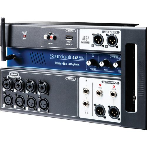Soundcraft Ui12 12-Input Remote-Controlled Digital Mixer 5056217