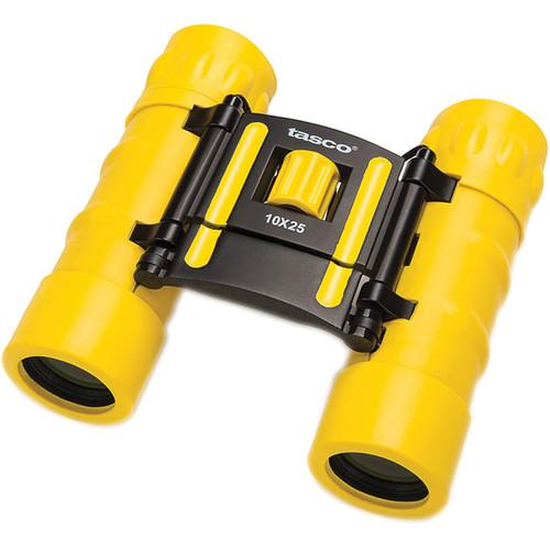 Tasco 10x25 Essentials Compact Binocular (Yellow) 168RBY