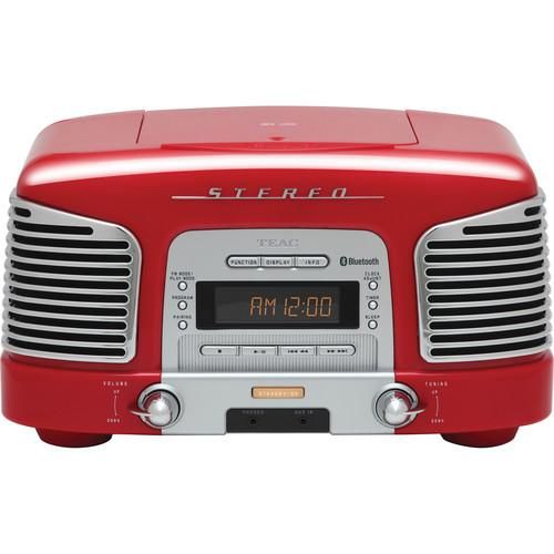 Teac SL-D930 2.1-Channel Bluetooth Speaker System (Red)