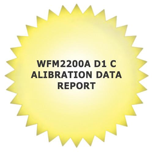 Tektronix 1-Year Calibration Data Report for WFM2200 WFM2200AD1