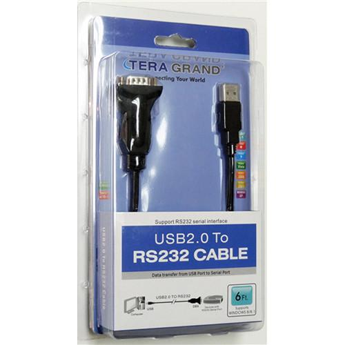 Tera Grand USB 2.0 to RS232 Serial DB9 Adapter USB2-RS232WN-06