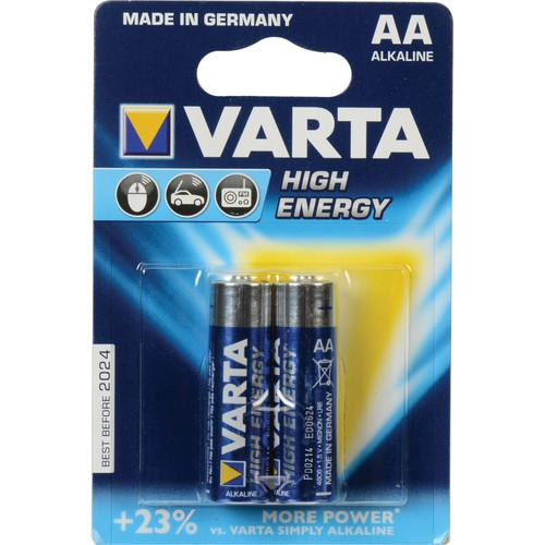 Varta High-Energy 1.5V AA LR6 Alkaline Battery V4906121412
