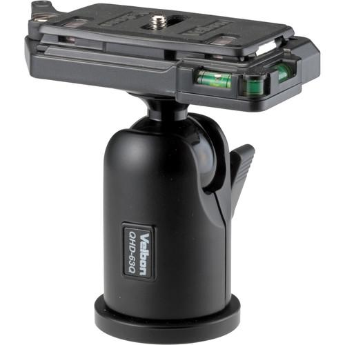 Velbon QHD-63Q Ball Head with Quick-Release Plate QHD-63Q