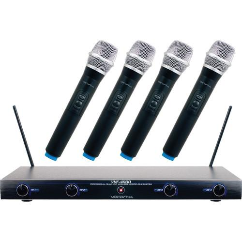 VocoPro VHF-4005 Four Channel Rechargeable VHF Wireless VHF-4005