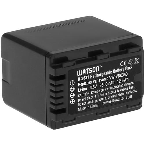 Watson VW-VBK360 Lithium-Ion Battery Pack (3.6V, 3500mAh) B-3631