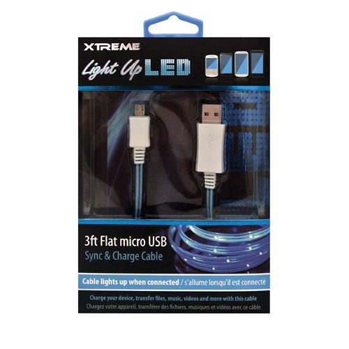 Xtreme Cables Micro-USB Light Up LED Sync and Charge 89911-BL