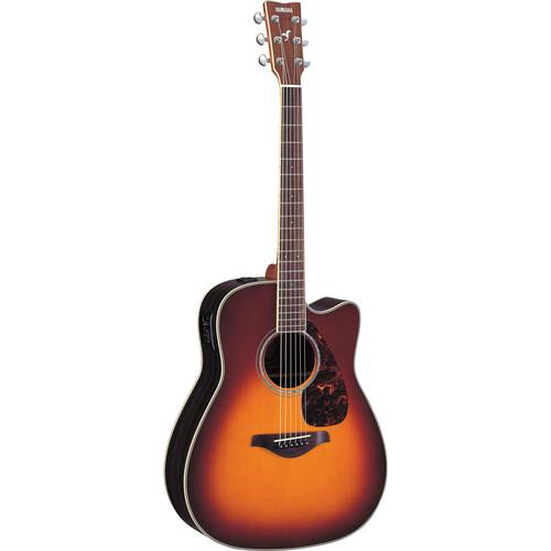 Yamaha FGX730SC Acoustic/Electric Solid-Top Cutaway FGX730SC BS