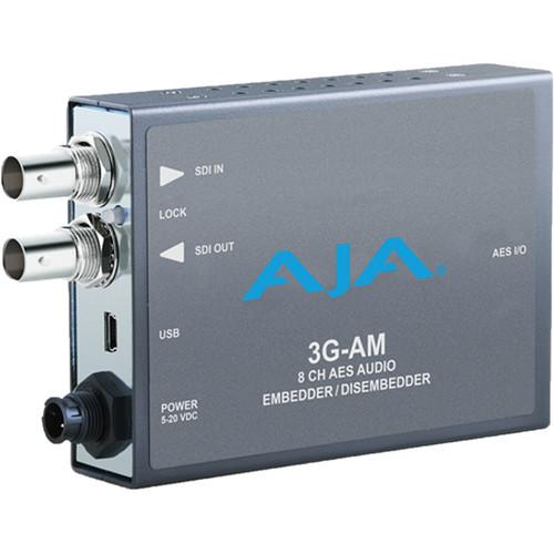 AJA 3G-AM 3G-SDI 8-Channel AES Audio Embedder/Disembedder 3G-AM