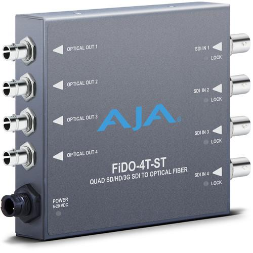 AJA FiDO Quad Channel 3G-SDI to ST Fiber Mini FIDO-4T-ST