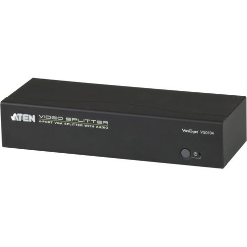 ATEN  4-Port VGA Splitter with Audio VS0104