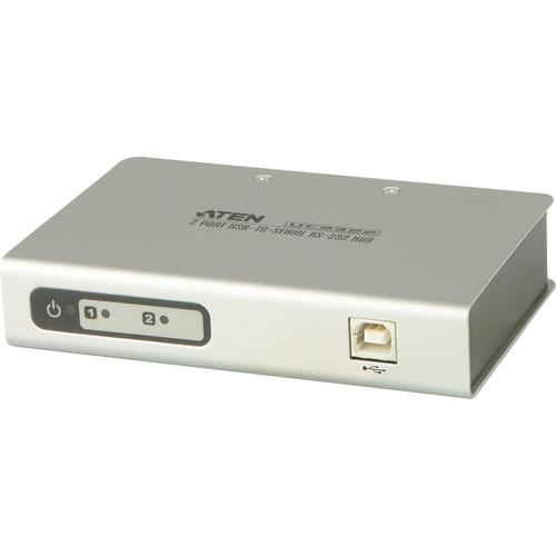 ATEN UC2322 2-Port USB to Serial RS-232 Hub UC2322
