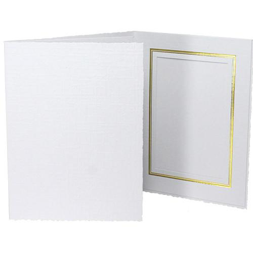 Collector's Gallery Classic White Folder with Gold PF551046.BH25
