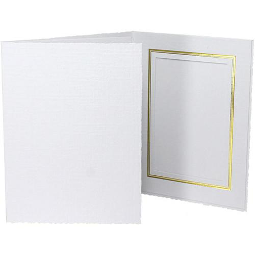 Collector's Gallery Classic White Folder with Gold PF551057.BH25